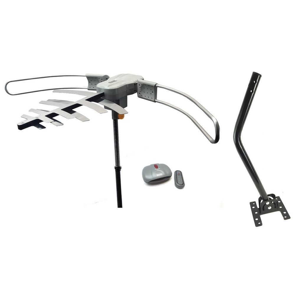 Premium HDTV Long Range Digital TV Antenna Air TV Stations Includes Roof Mounting J-Pole