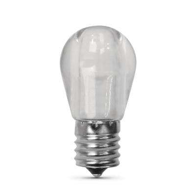 40-Watt Equivalent Bright White (3000K) S11 Intermediate E17 Base LED Light Bulb