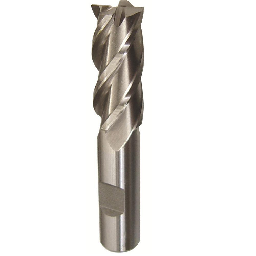 "USA 7//8/"" x 7//8/"" Shank 4F HSS Center Cutting Single End Mill Extra Long"