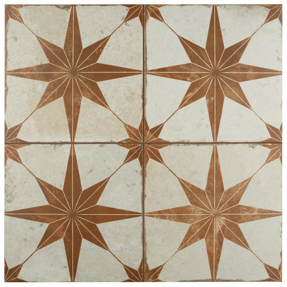 Merola Tile Kings Star Oxide Encaustic 17-5/8 in. x 17-5/8 in. Ceramic Floor and Wall Tile (33 cases / 363.66 sq. ft. / pallet)