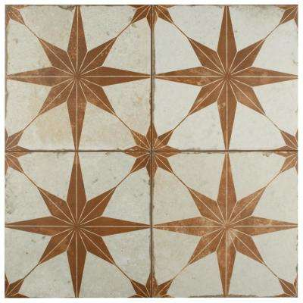 Kings Star Oxide Encaustic 17-5/8 in. x 17-5/8 in. Ceramic Floor and Wall Tile (33 cases / 363.66 sq. ft. / pallet)