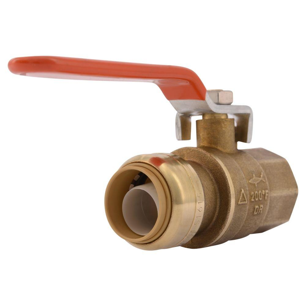 SharkBite 3/4 in. Brass Push-to-Connect x Female Pipe Thread Ball Valve