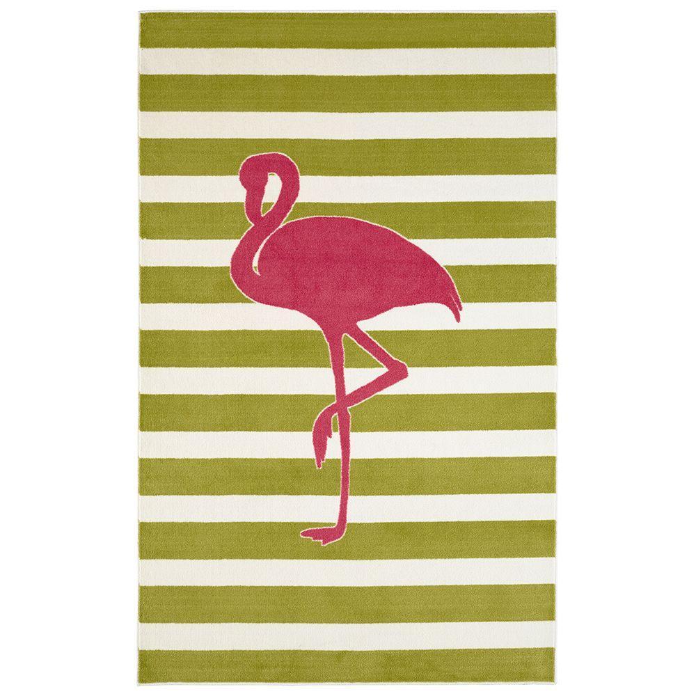 Mohawk Home Fancy Flamingo Hot Pink 5 ft. x 8 ft. Indoor Area Rug was $127.06 now $76.24 (40.0% off)