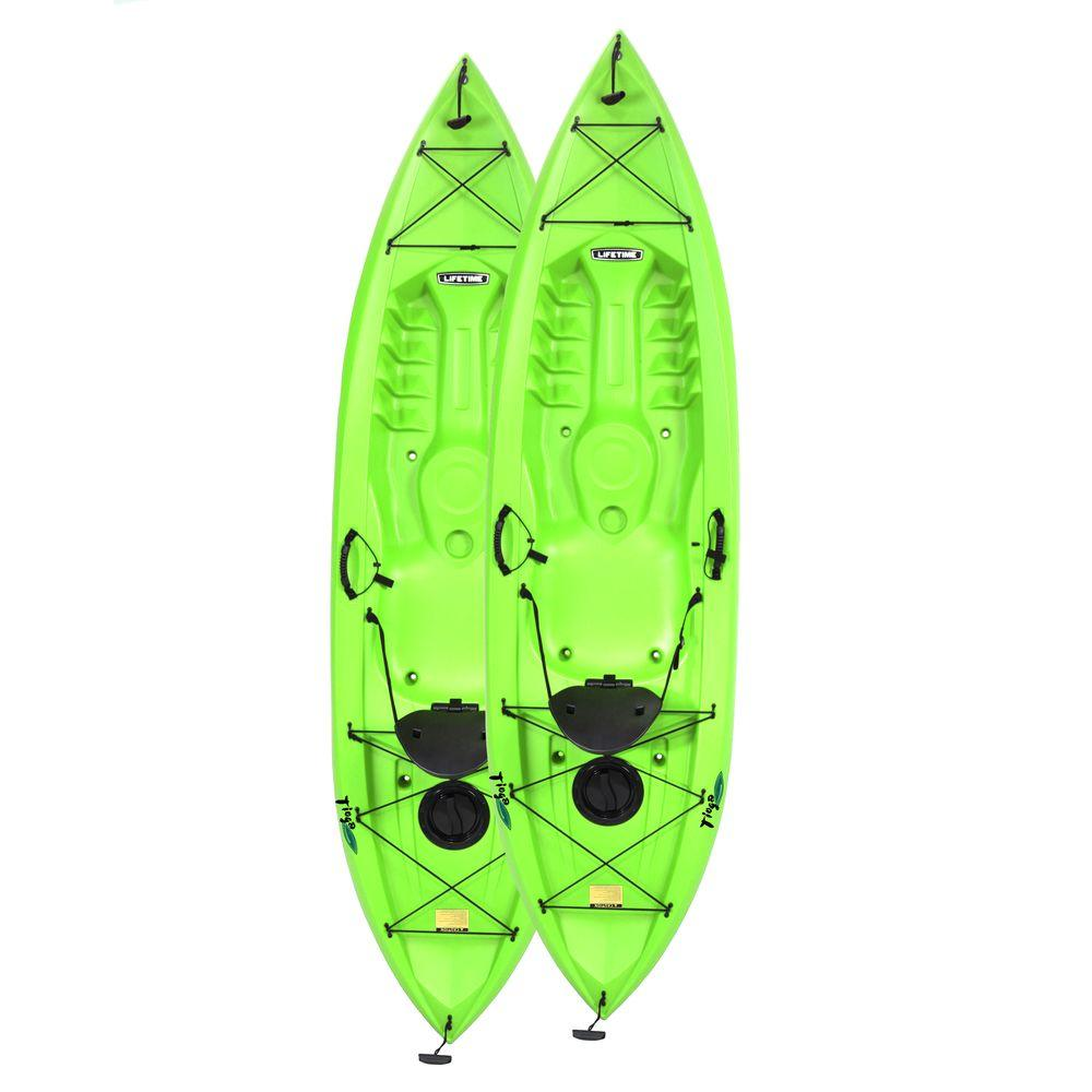 Tamarack Tioga 10 ft. Lime Green Kayak (2-Pack)