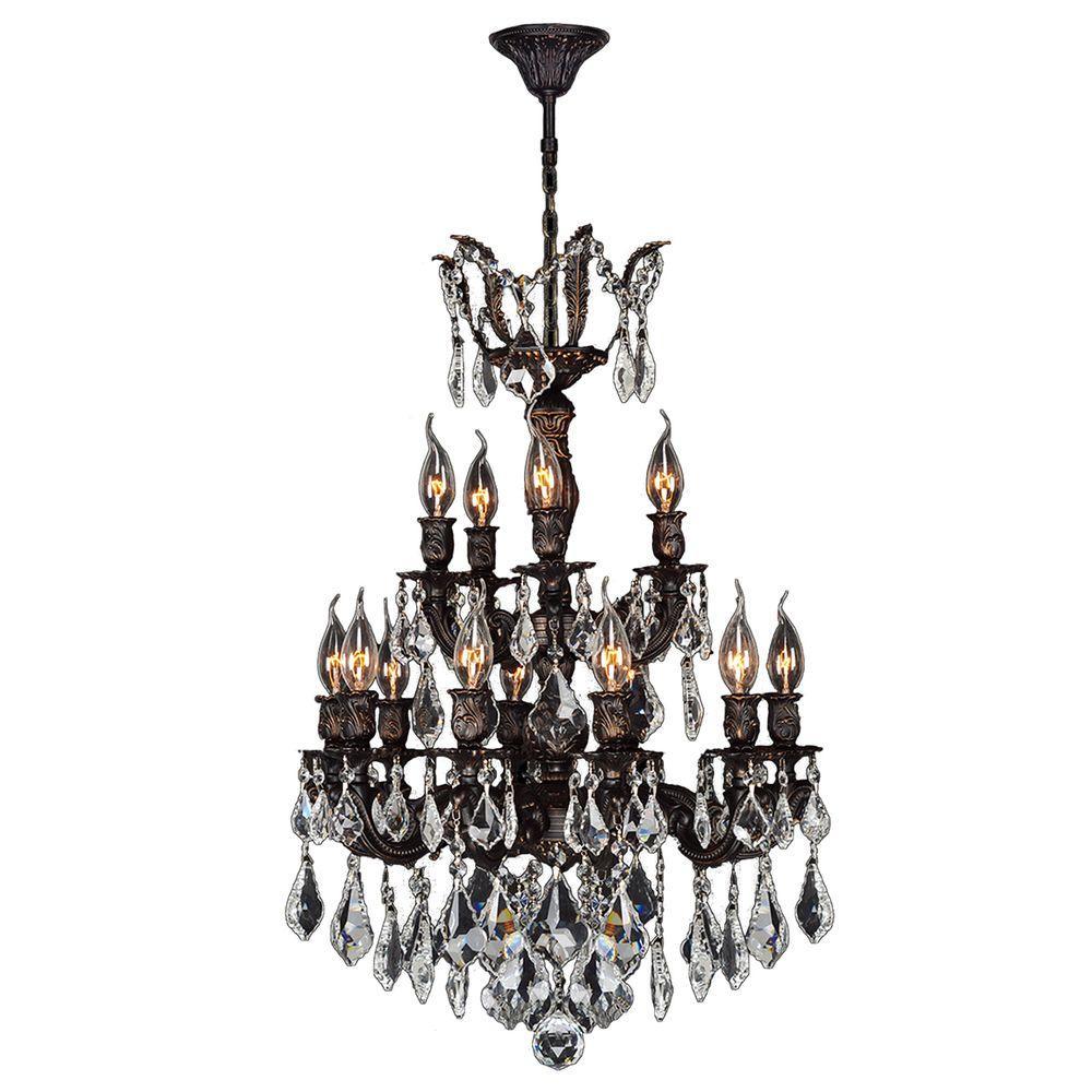 Worldwide lighting versailles 15 light flemish brass crystal worldwide lighting versailles 15 light flemish brass crystal chandelier mozeypictures Gallery