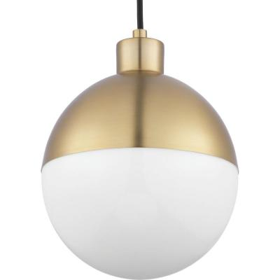 Globe 9-Watt Brushed Bronze Integrated LED Pendant