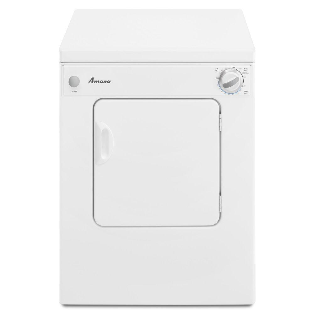 Amana 3.4 cu. ft. 240-Volt White Electric Compact Vented ...