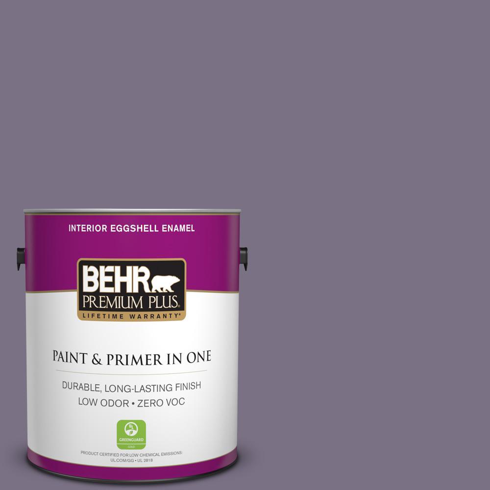 1-gal. #660F-6 Peruvian Violet Zero VOC Eggshell Enamel Interior Paint