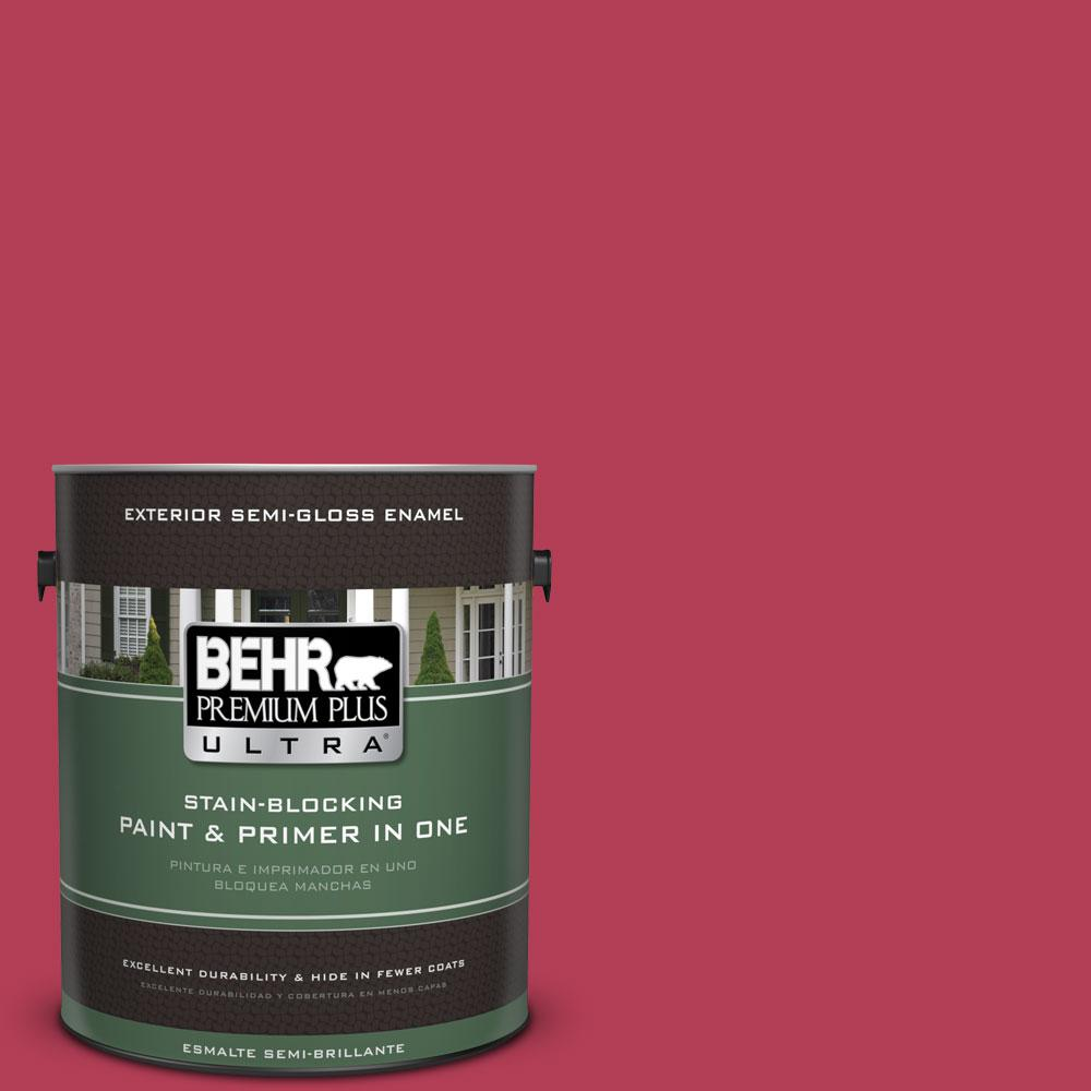 1-gal. #130B-7 Cherry Wine Semi-Gloss Enamel Exterior Paint