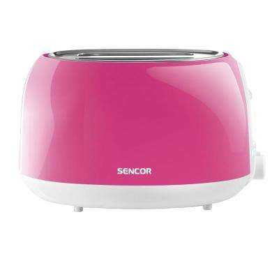 2-Slice Solid Pink Toaster