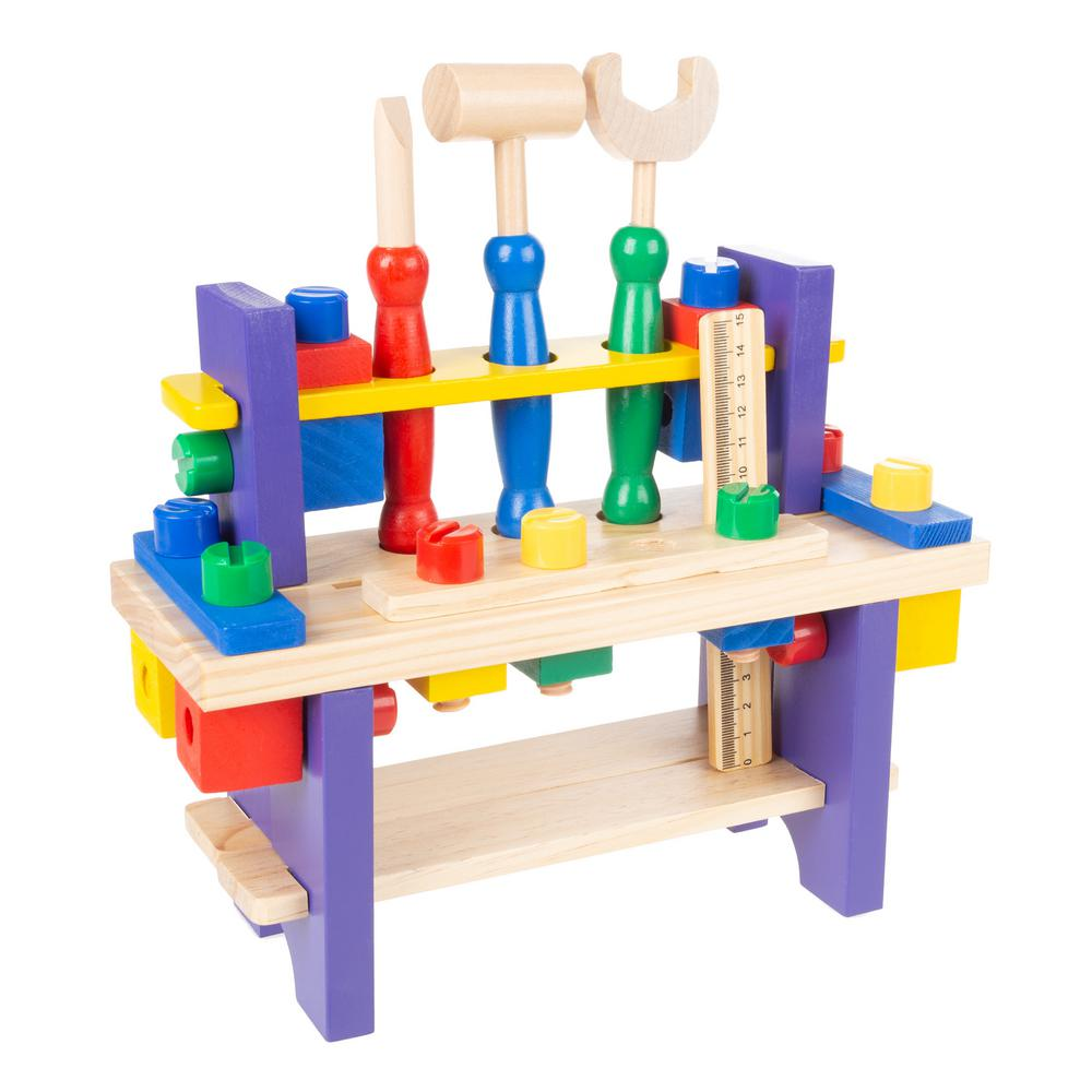 Hey! Play! Kids Pretend Play Toy Workbench and Tool Set
