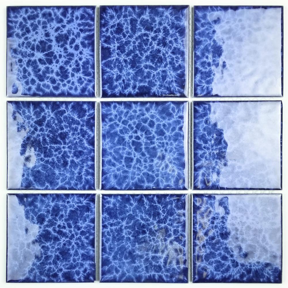 Monet Blue Mosaic 12 in. x 12 in. Glazed Porcelain Wall Tile (18 sq. ft. / case)