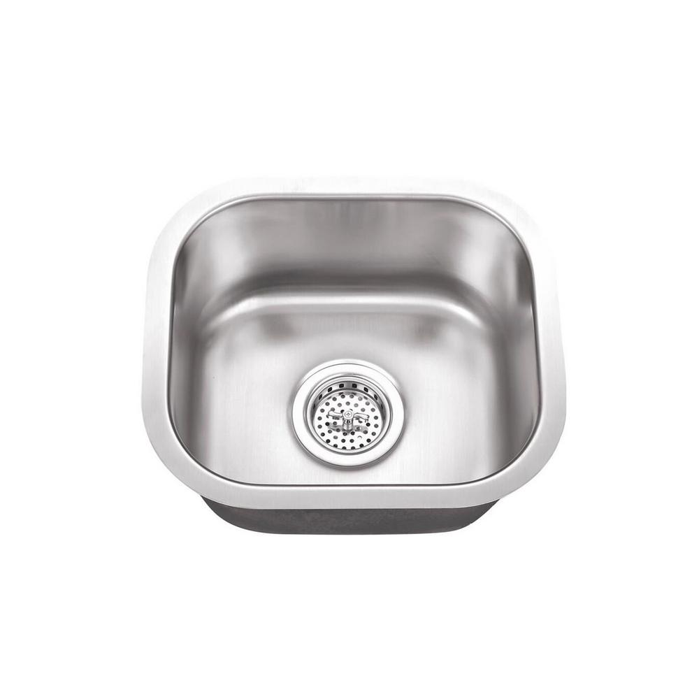 Cahaba Undermount Stainless Steel 14 5 In X 13 Single Bowl Small Bar Sink