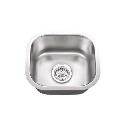 Undermount Stainless Steel 14.5 in. x 13 in. Single Bowl Small Bar Sink