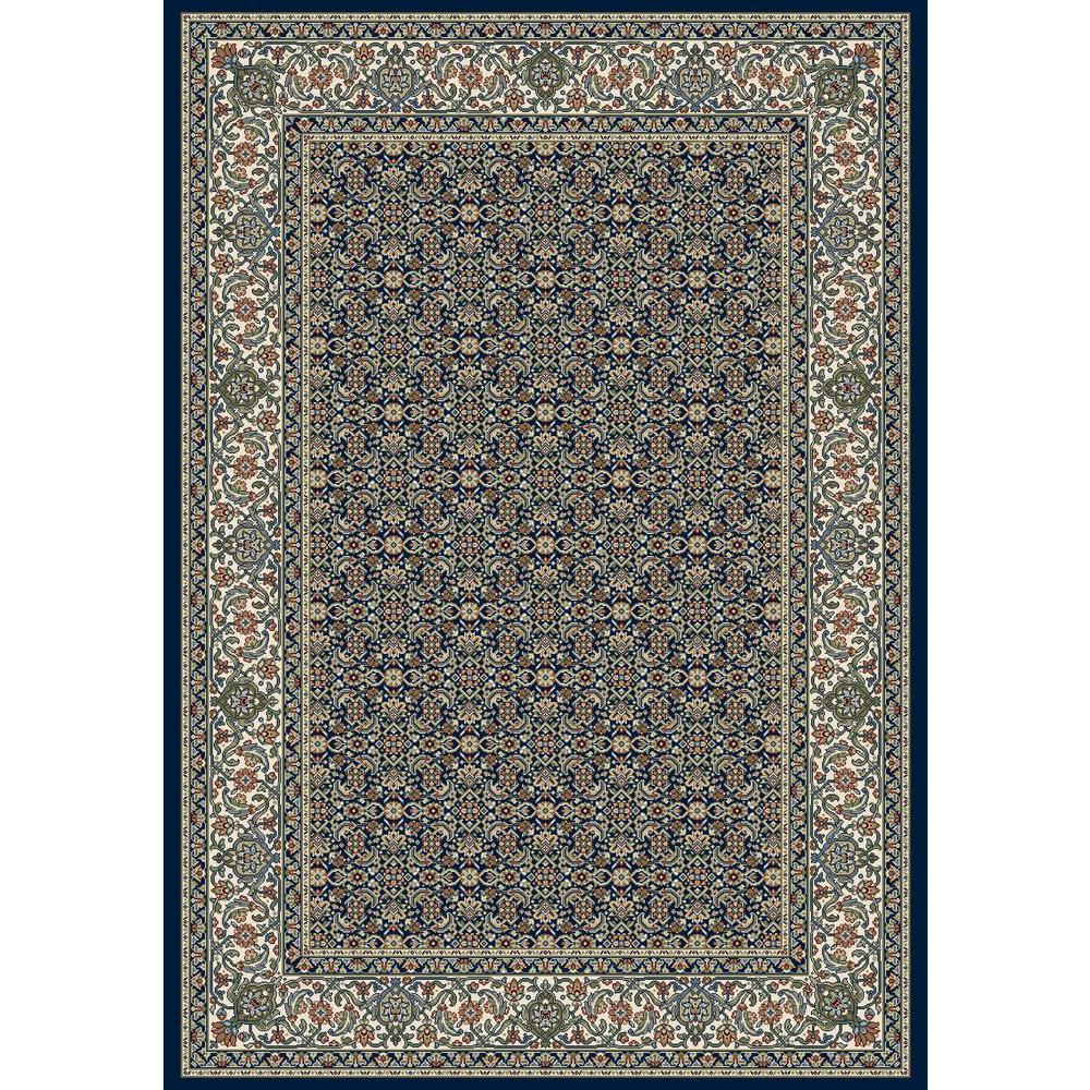 Tayse Rugs Kensington Navy 5 Ft 3 In X 7 Ft 3 In Indoor Area Rug Kns1007 5x8 The Home Depot