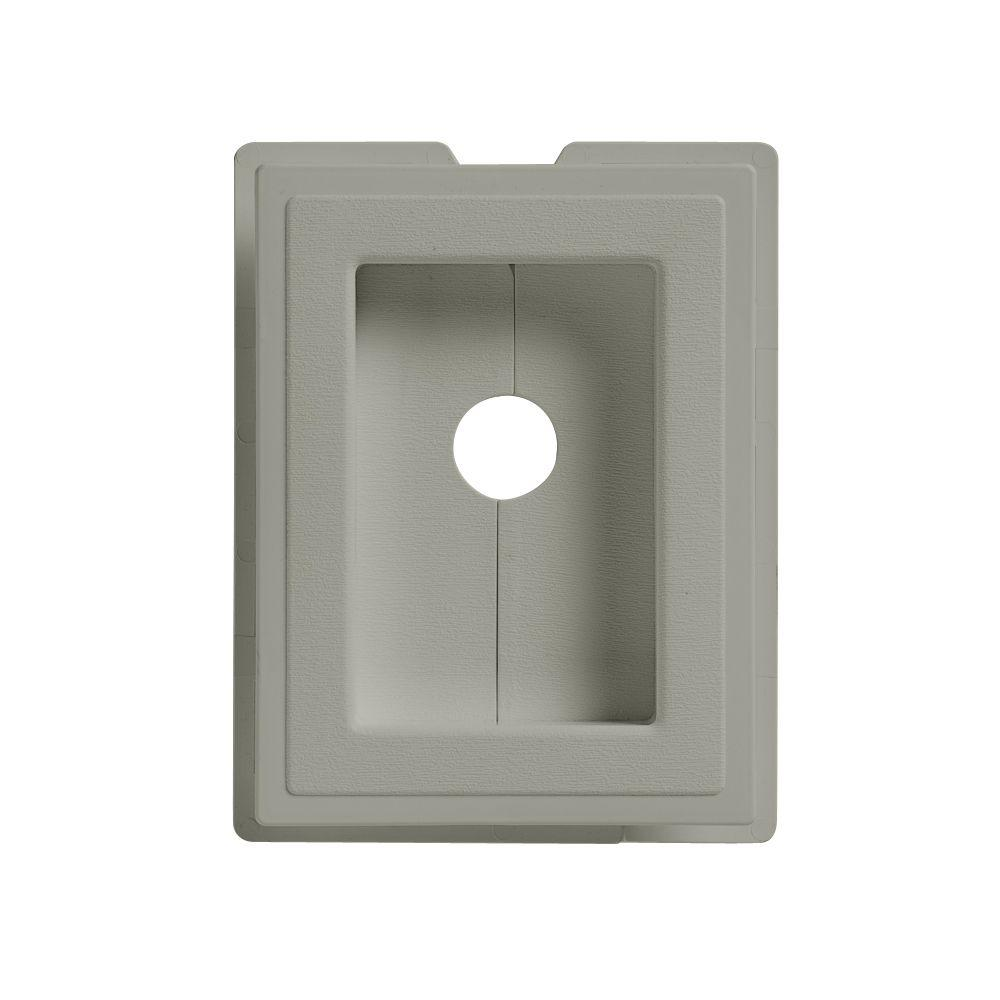 6 in. x 7.5 in. Thistle Split Recessed Mounting Block