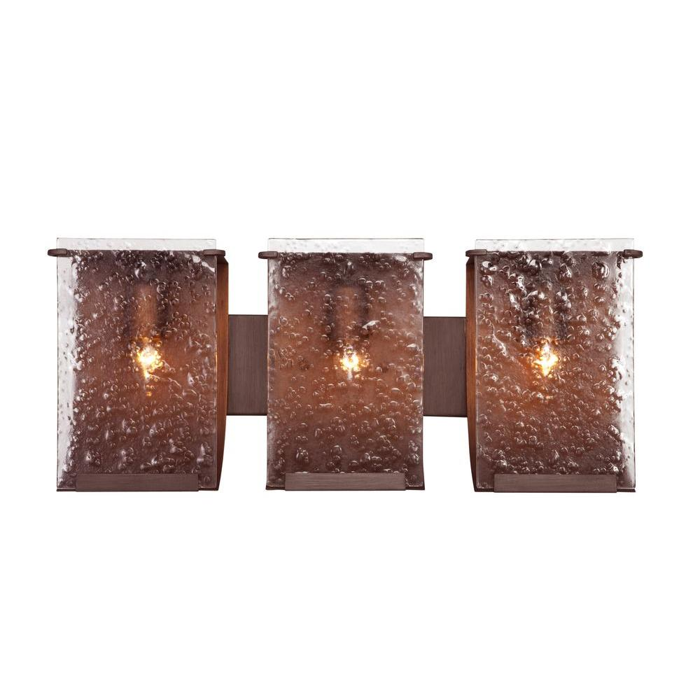 Recycled lighting fixtures Diy Room Varaluz Rain 3light Hammered Ore Bath Vanity Light With Recycled Handpressed Rain The Home Depot Varaluz Rain 3light Hammered Ore Bath Vanity Light With Recycled