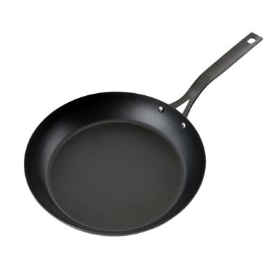 Maxwell 11 in. Steel Nonstick Frying Pan in Black