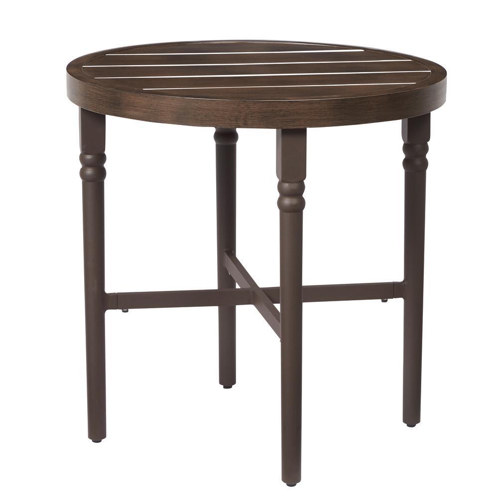 Lemon Grove Wicker Round Outdoor Bistro Table
