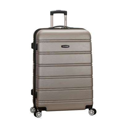 Melbourne 28 in. Silver Expandable Hardside Dual Wheel Spinner Luggage