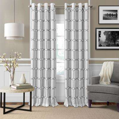 Kaiden Gray Single Blackout Window Curtain Panel - 52 in. W x 95 in. L