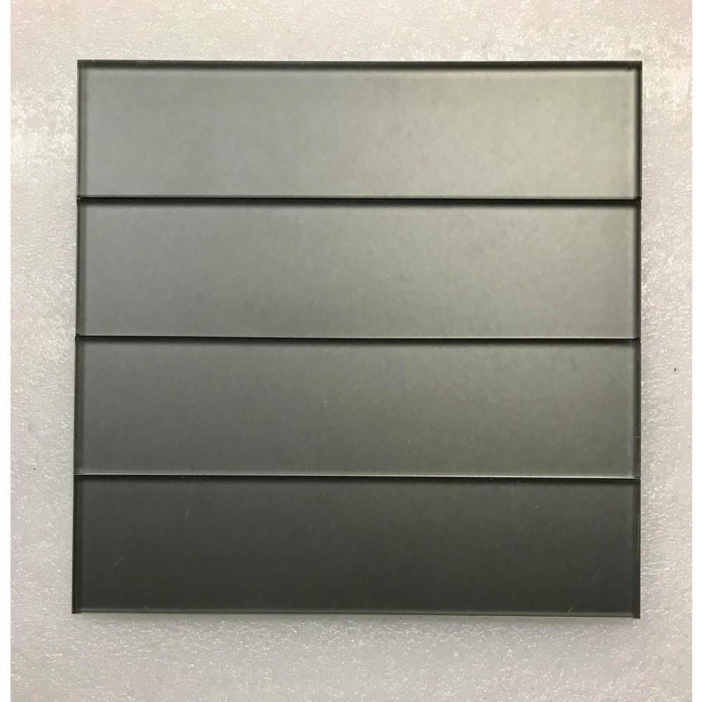 ABOLOS Forever Eternal Gray Deco 2 in. x 8 in. Matte Straight Edge Glass Wall Tile (9 Pk)