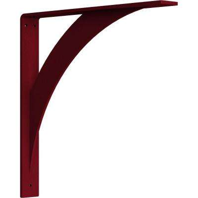 2 in. x 16 in. x 16 in. Steel Hammered Bright Red Legacy Bracket