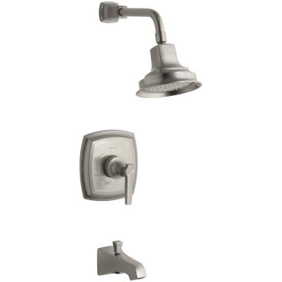 Margaux Single-Handle 1-Spray 2.5 GPM Tub and Shower Faucet with Lever Handle in Vibrant Brushed Nickel