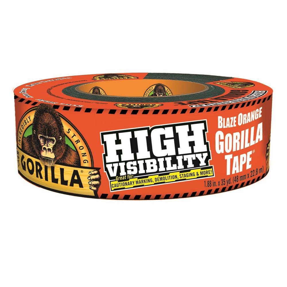 Gorilla 35 yd. High Visibility Tape Blaze in Orange