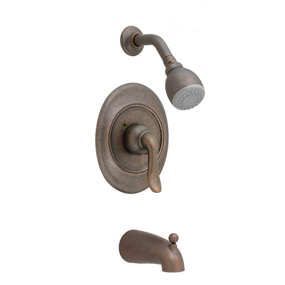 American Standard Princeton Pressure Balance 1-Handle Tub and Shower Faucet Trim Kit in Oil Rubbed Bronze (Valve Sold Separately)
