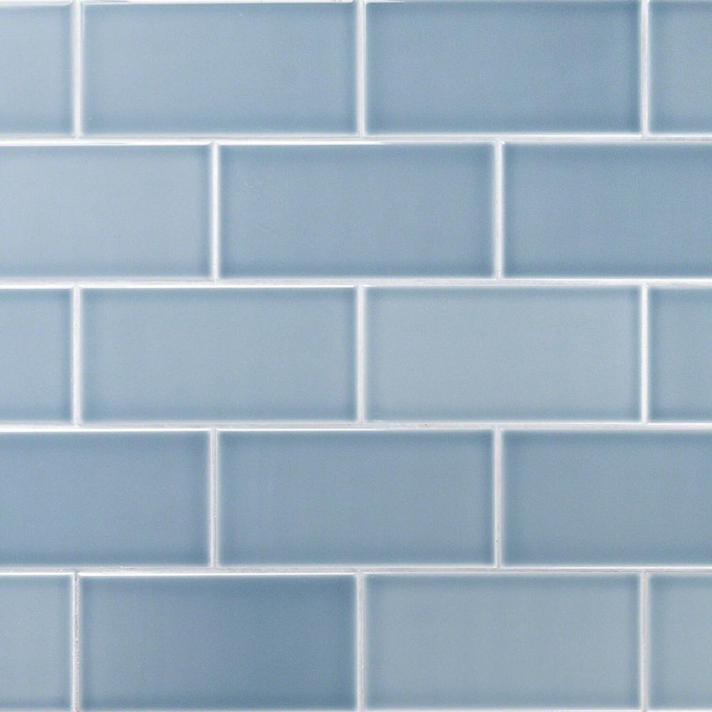 Blue Subway Tile Flooring The
