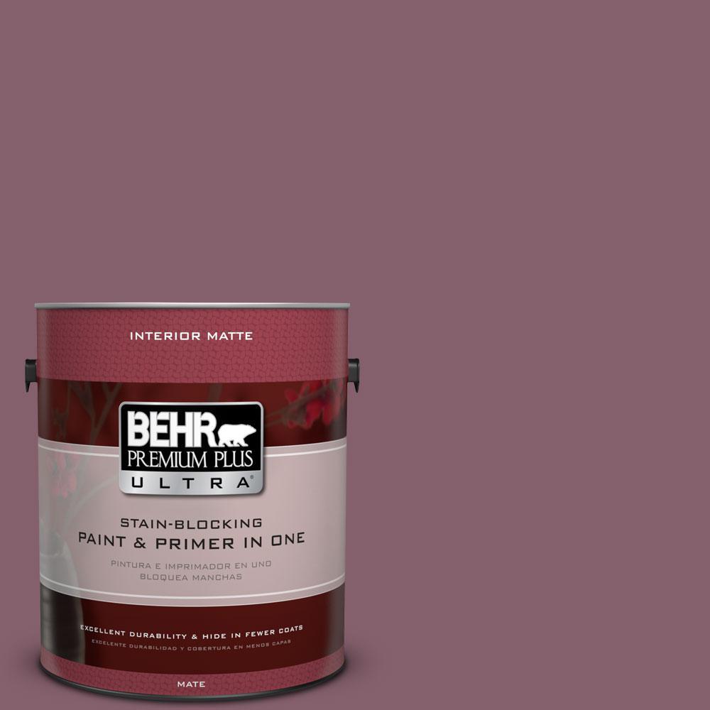 1 gal. #BIC-35 Vintage Plum Matte Interior Paint