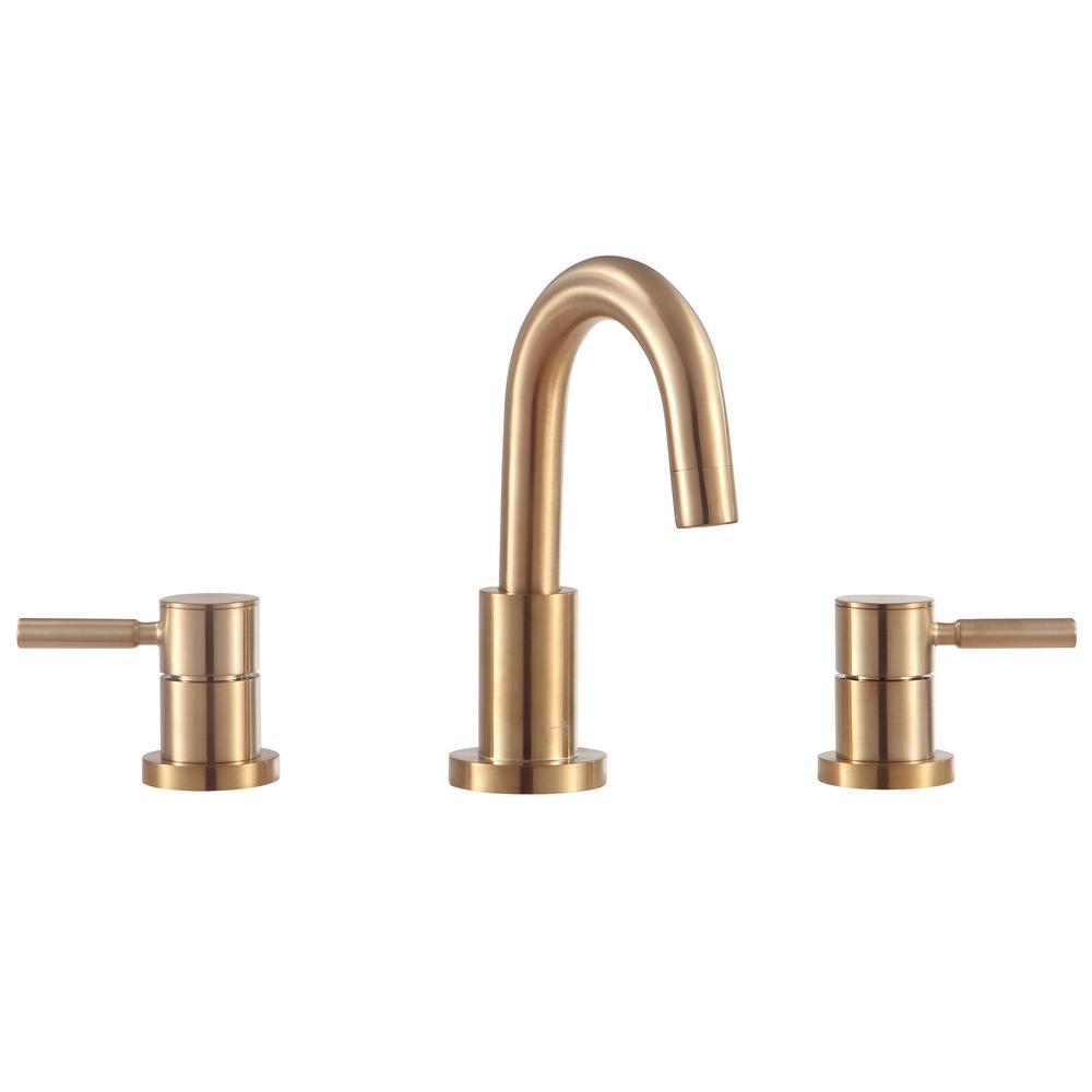 Positano 8 in. Widespread 2-Handle Bathroom Faucet in Matte Gold