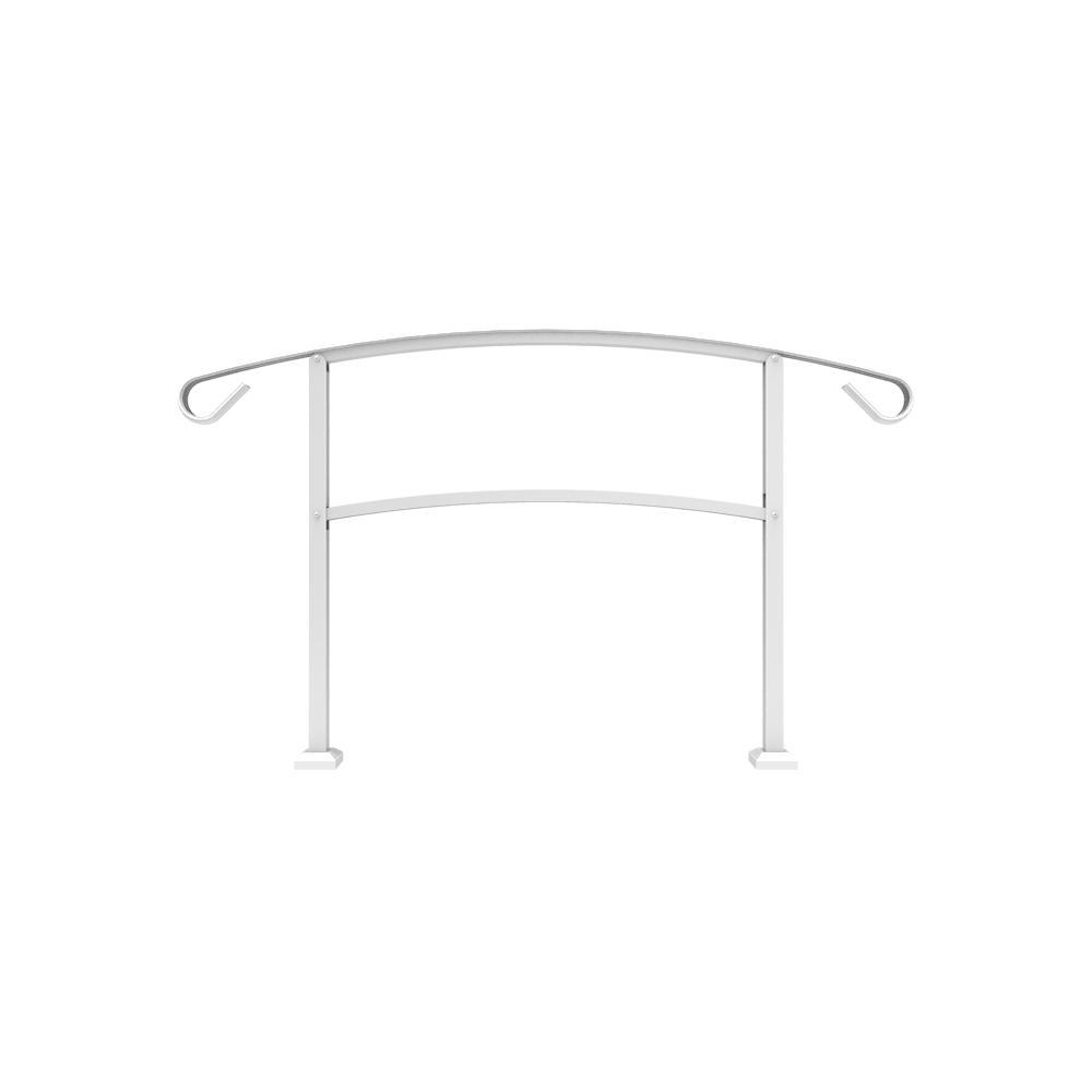 4 Step Handrail Kits : Tuffbilt handirail in ft white