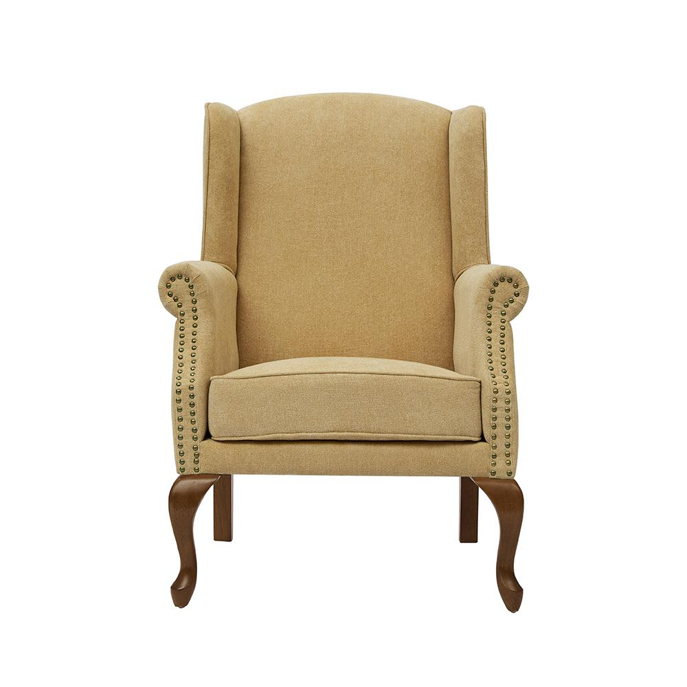 Lorell Sea Oat Wingback Arm Chair