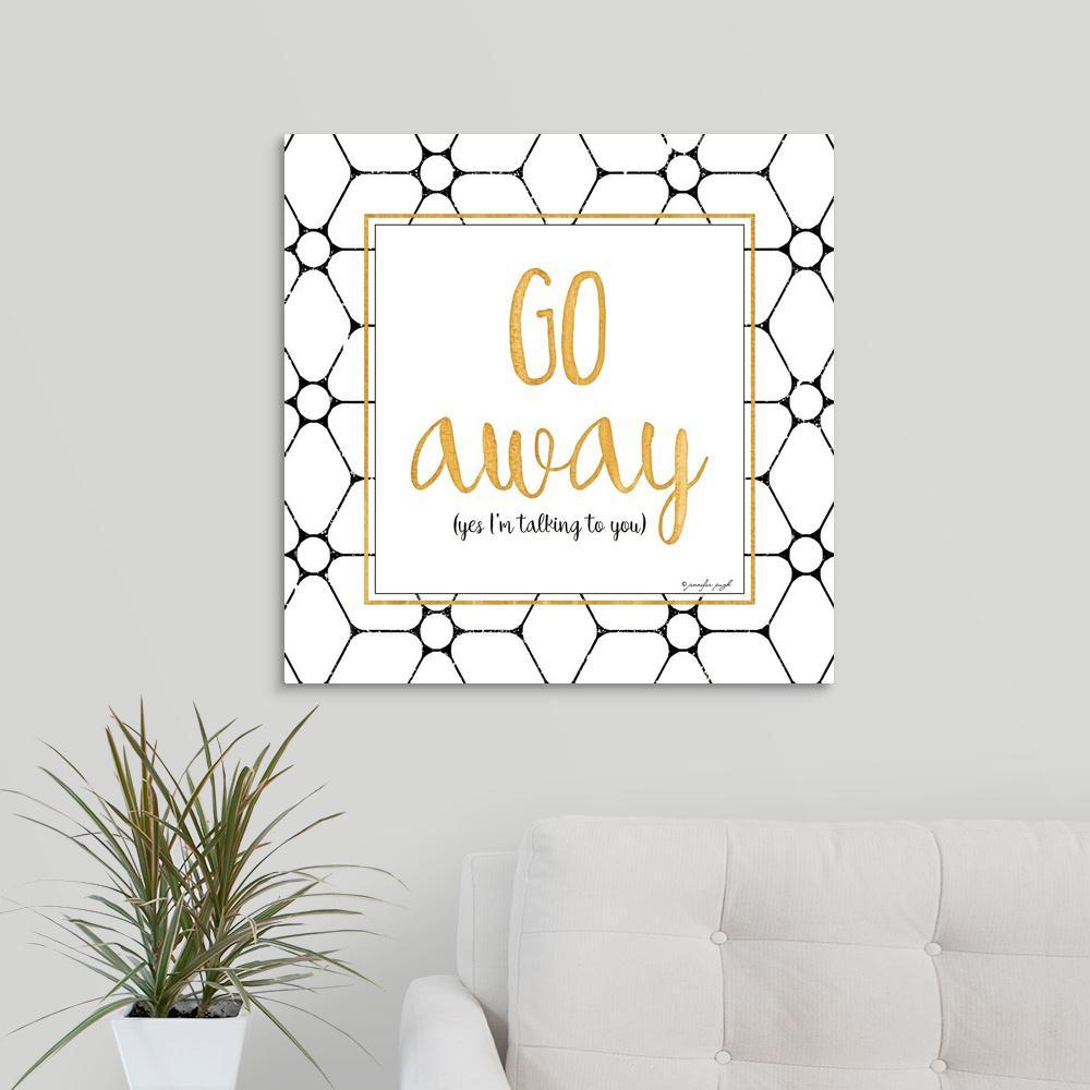 GreatBigCanvas ''Go Away'' by Jennifer Pugh Canvas Wall Art 2452939_24_24x24