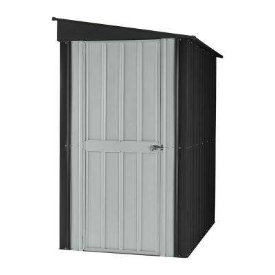 Lean To 4 ft. x 8 ft. Slate Gray Metal Shed