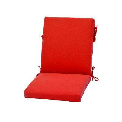 21 in. x 20 in. CushionGuard Ruby Outdoor Dining Chair Cushion
