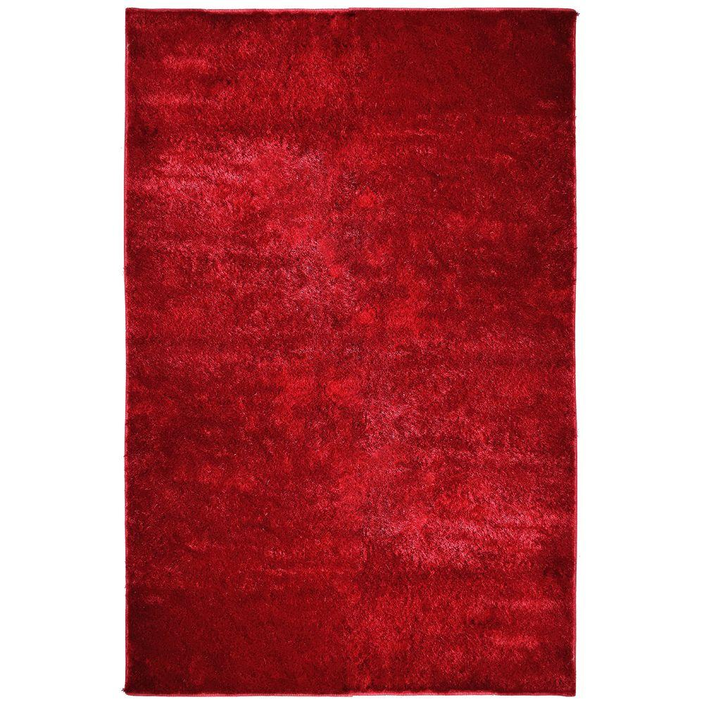 Lanart Silk Reflections Red 8 ft. x 10 ft. Area Rug