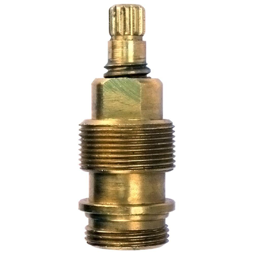 910-403 Pfister Hot/Cold Replacement Stem, Brass Repairing a leaky faucet is an easy and inexpensive alternative to replacing the entire faucet especially with this OEM (original equipment manufacturer) Price Pfister 910-403. Use to repair lavatory and kitchen valves. Made of durable materials that will endure the rigors of everyday use. Color: Brass.