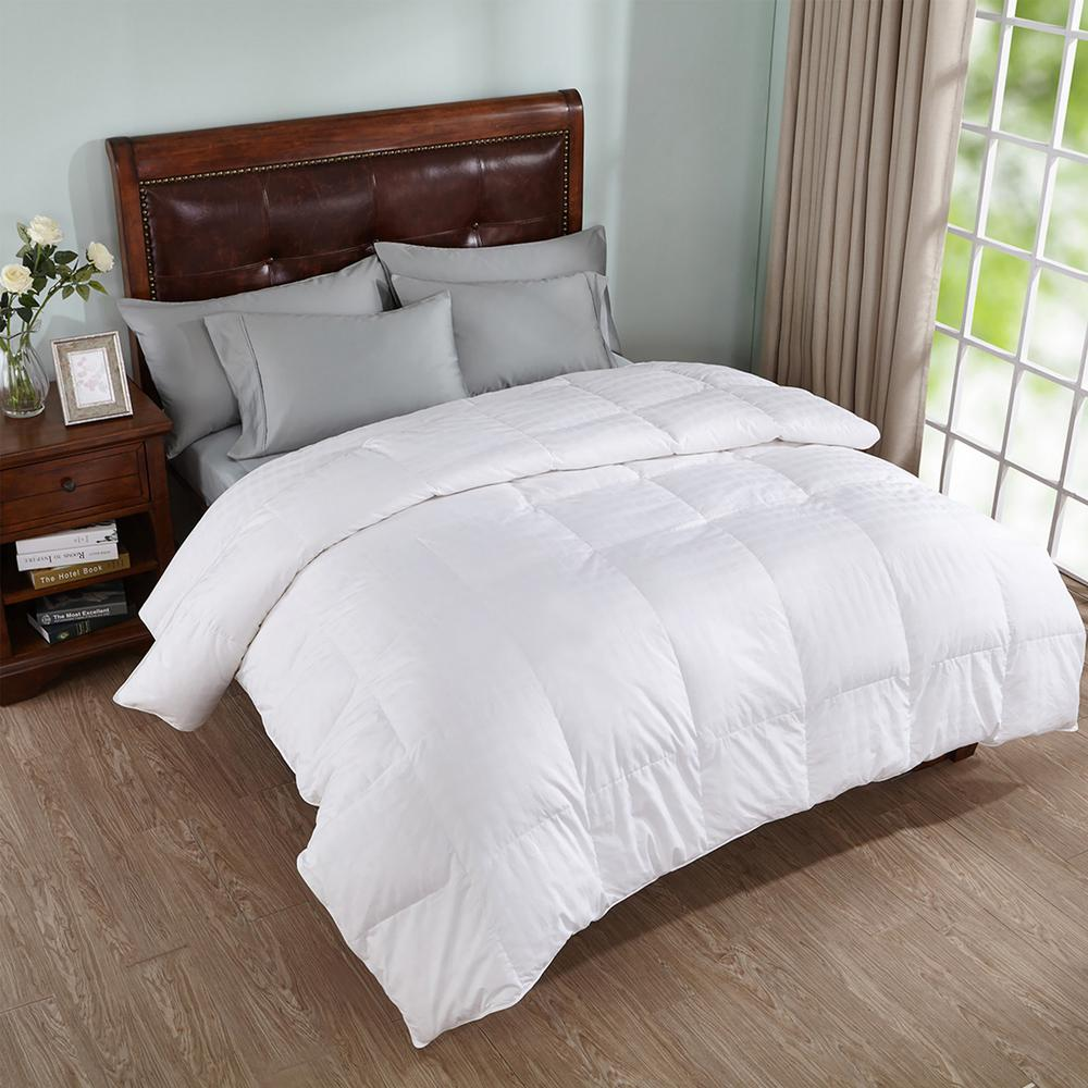 Peace Nest All Season White King Goose Down Comforter He Dc 18013 K