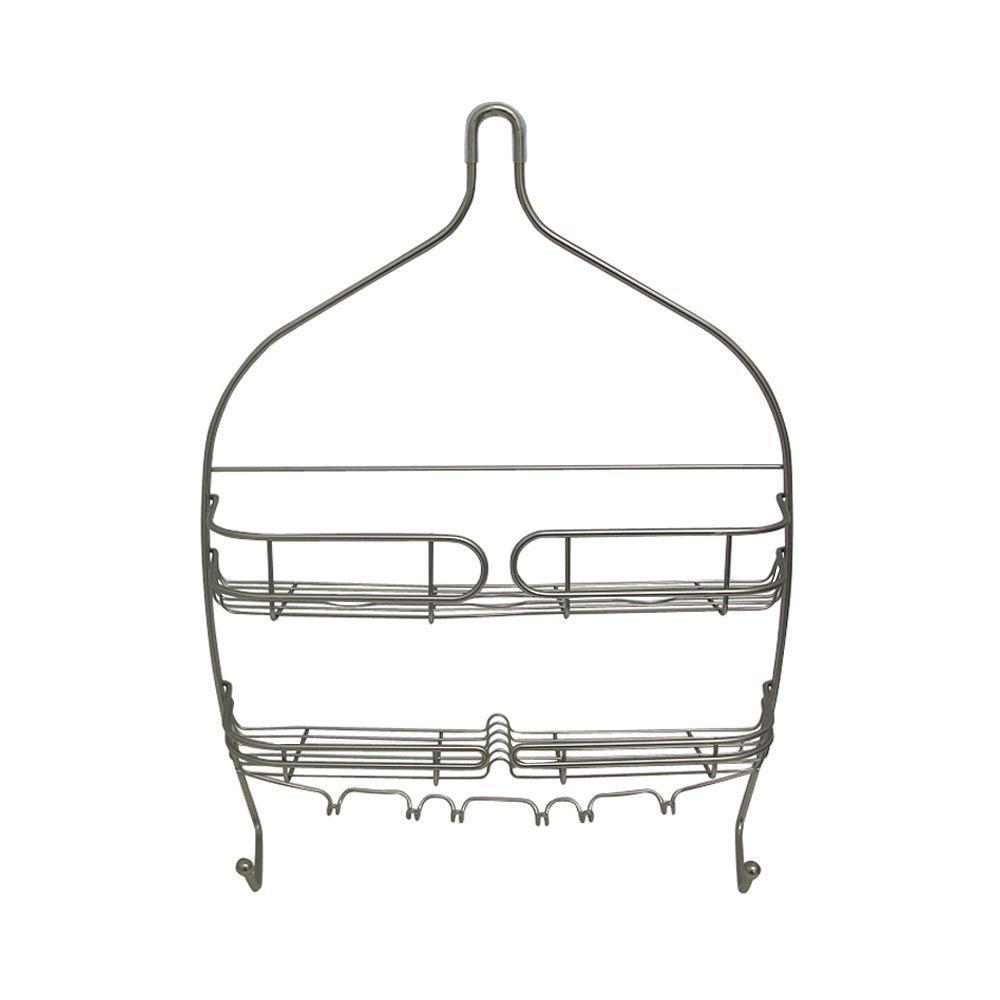 interDesign Neo Large Shower Caddy in Satin Nickel