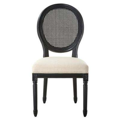 Jacques Antique Black Oval Back Side Chairs (Set of 2)
