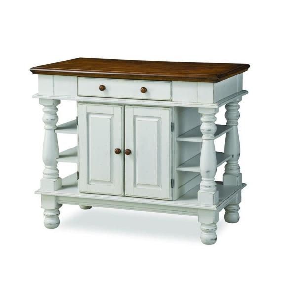 HOMESTYLES Americana White Kitchen Island With Storage 5094 ...