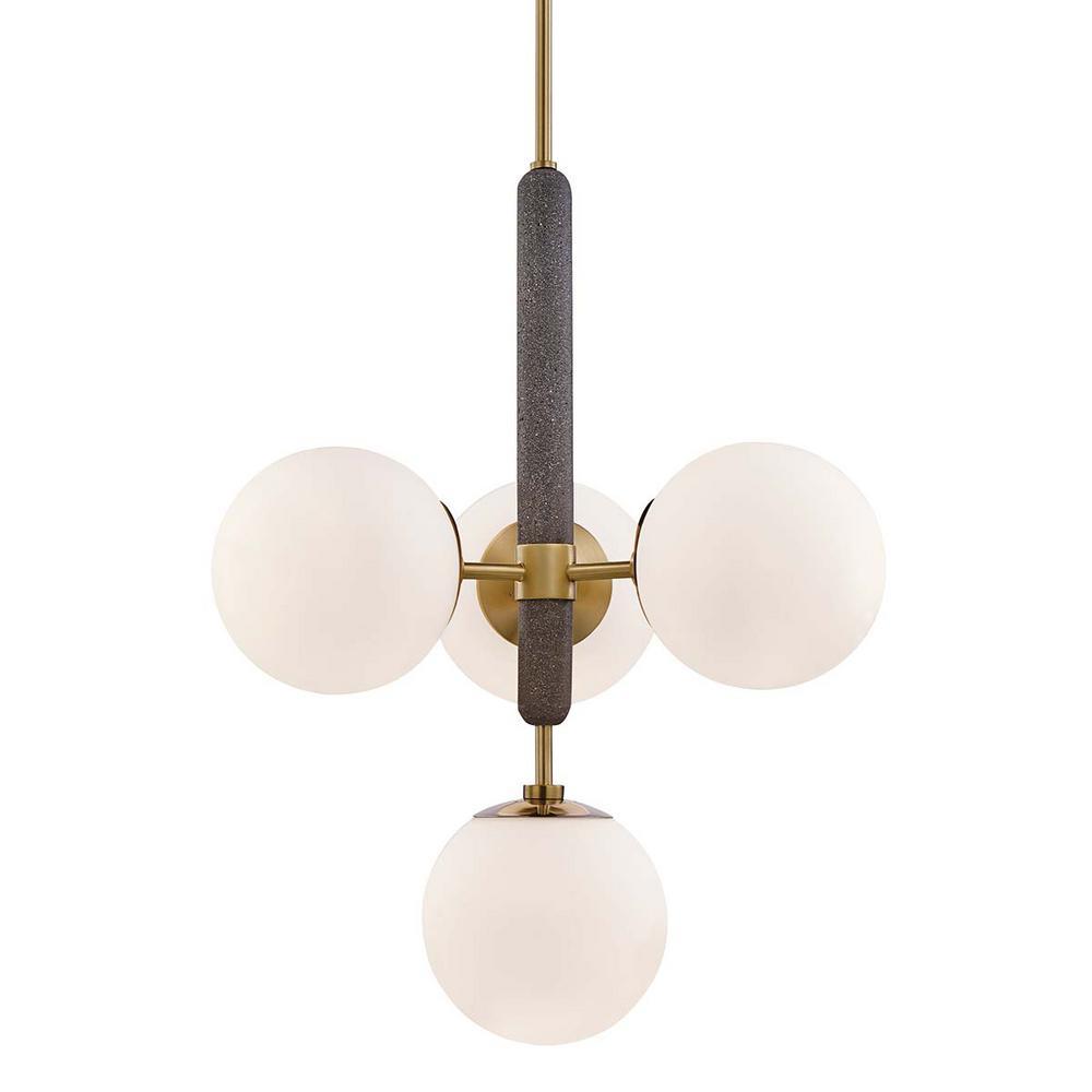Brielle 4-Light Aged Brass Pendant