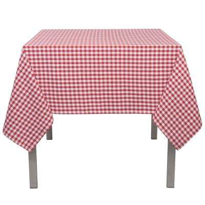 Gingham Red Checkered Cotton Tablecloth