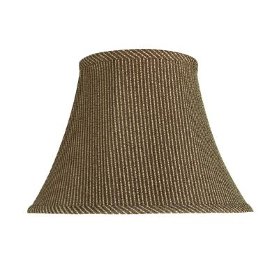13 in. x 9.5 in. Brown Bell Lamp Shade