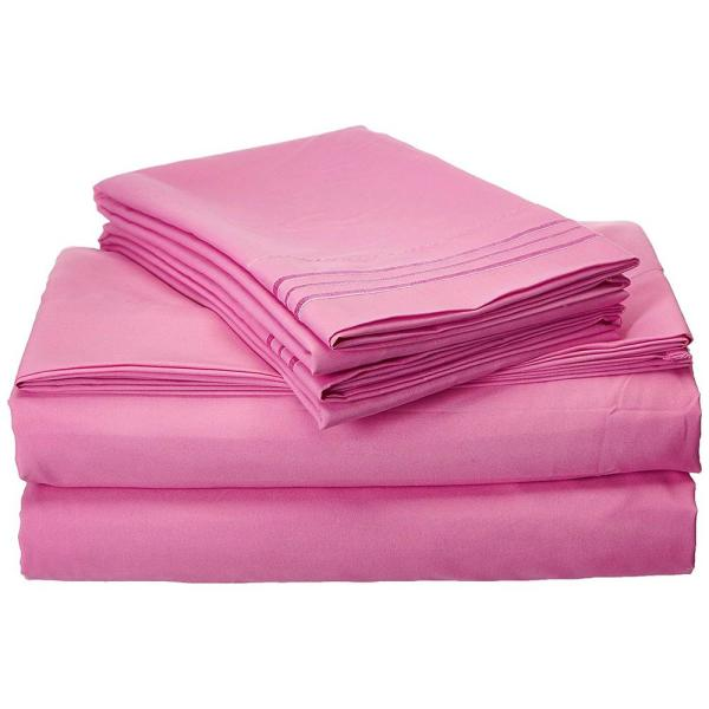 Elegant Comfort 1500 Series 4 Piece Light Pink Triple Marrow