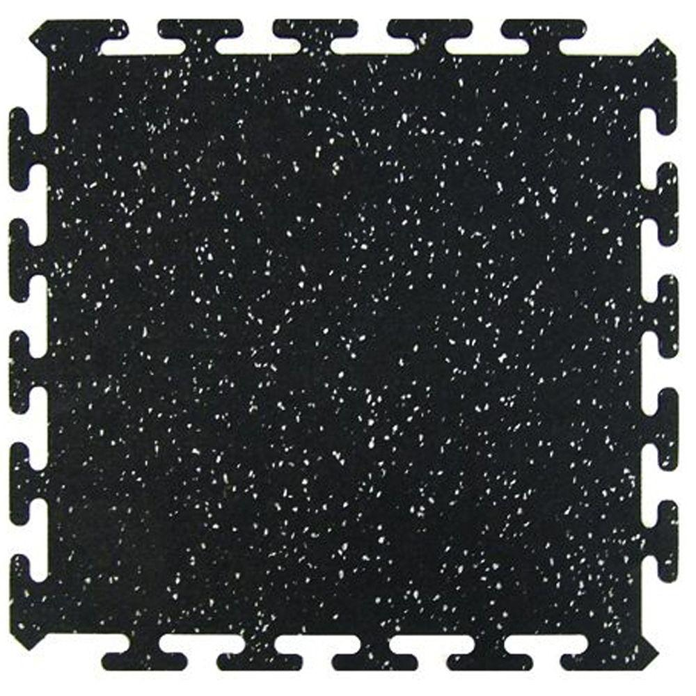 Multy Home Black 16 5 In X Activity Floor 6 Pack