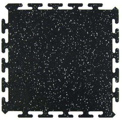Black 16.5 in. x 16.5 in. Activity Floor (6-Pack)